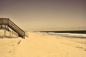 Beach House at Outer Banks by Martina Bleichner