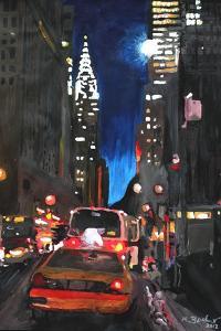 New York - Chrysler Building Street Scene by Martina Bleichner