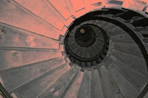Red Lighthouse Stairs by Martina Bleichner