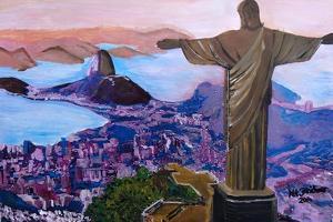 Rio de Janeiro with Christ the Redeemer by Martina Bleichner