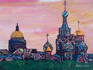 St Petersburg With Church Of The Savior On Blood by Martina Bleichner
