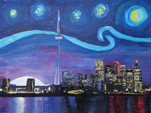 Starry Night in Toronto Ontario Canada by Martina Bleichner