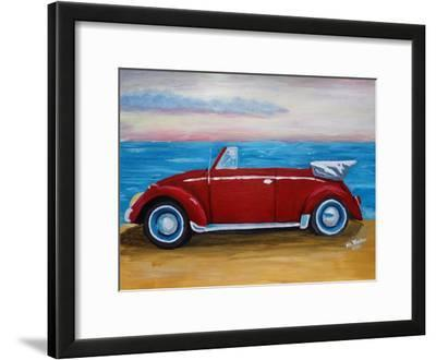 The VW Bug Series - The Red Volkswagen Bug at the beach