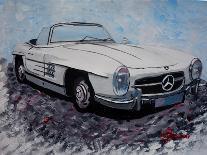 The White Mercedes SL 300 1957-Martina Bleichner-Art Print