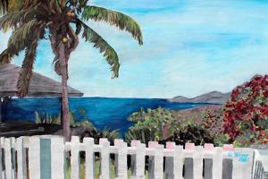 White Fence English Harbour, Antigua, West Indies by Martina Bleichner