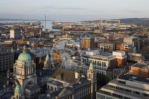Belfast City Centre, Northern Ireland, Looking Towards the Docks and Estuary by Martine Hamilton Knight