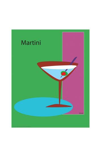 Martini in Green-ATOM-Giclee Print