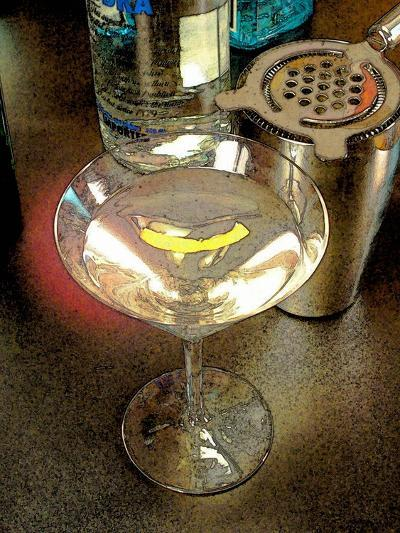 Martini with Lemon Peel-Steve Ash-Giclee Print