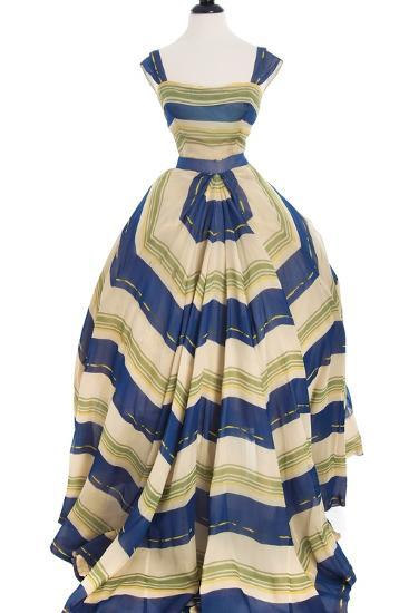 Martinique', a Striped Organza Ball Gown, Christian Dior, 1948-49--Photographic Print