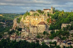 Rocamadour Village Wide Landscape View, France by MartinM303