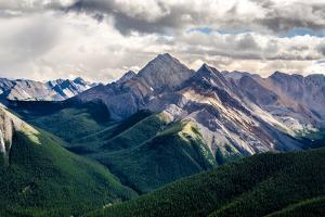 Scenic View of Rocky Mountains Range, Alberta, Canada by MartinM303