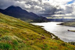 Scenic View of the Lake and Mountains, Inverpolly, Scotland by MartinM303