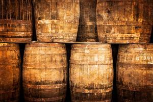 Stacked Whisky Barrels in Vintage Style by MartinM303