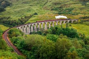 View of A Steam Train on A Famous Glenfinnan Viaduct, Scotland by MartinM303