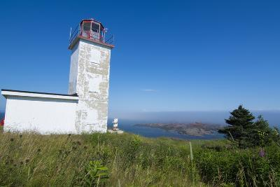 Martins, New Brunswick, White Old Traditional Historic Lighthouse Ion Water with Fields on Cliff-Bill Bachmann-Photographic Print