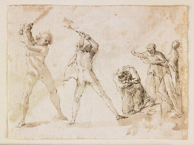 Martyrdom of Saint John the Baptist-Francesco Allegrini-Giclee Print