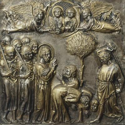 Martyrdom of St James, Panel on Frontal of Altar of St James-Andrea Di Jacopo D'Ognabene-Framed Giclee Print