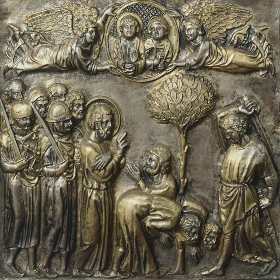 Martyrdom of St James, Panel on Frontal of Altar of St James-Andrea Di Jacopo D'Ognabene-Giclee Print