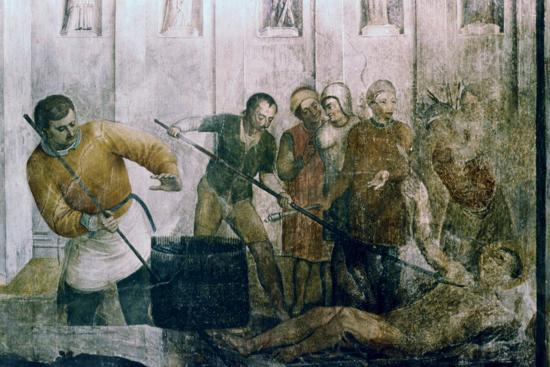 Martyrdom of St Laurence, Mid 15th Century-Fra Angelico-Giclee Print