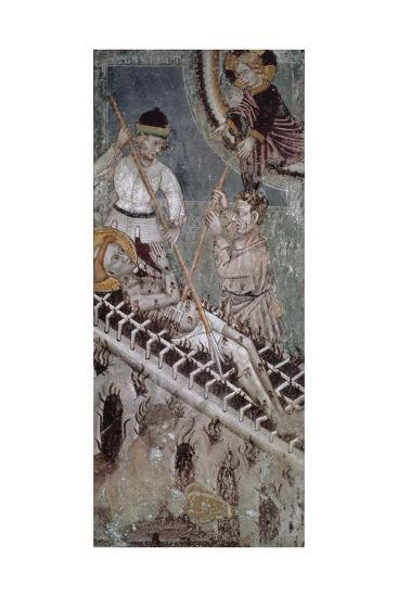 Martyrdom of St. Lawrence, Fresco, Basilica of San Giulio--Giclee Print
