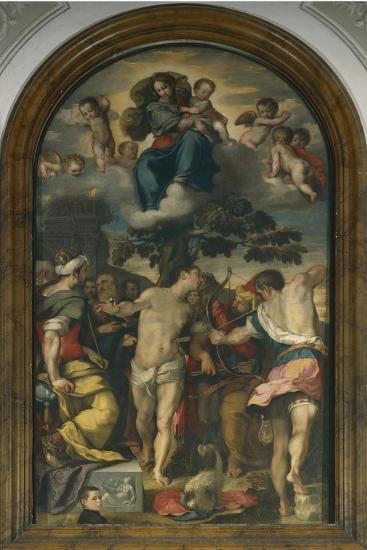 Martyrdom of St. Sebastian, 1558-Federico Fiori Barocci-Giclee Print