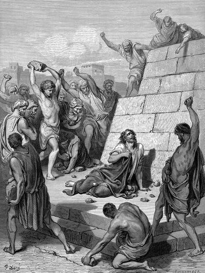 Martyrdom of St Stephen, C36-Gustave Dor?-Giclee Print