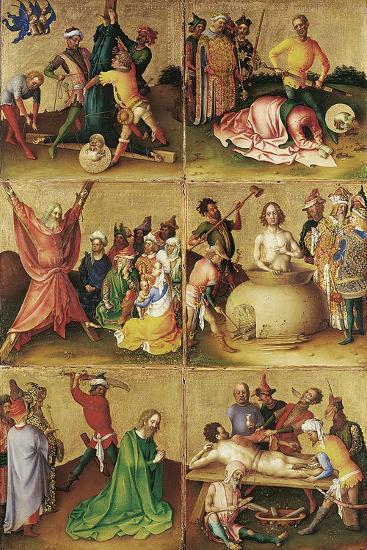 Martyrdom of the Apostles. Left Panel-Stephan Lochner-Giclee Print