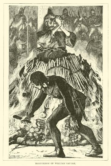 Martyrdom of William Sautre--Giclee Print