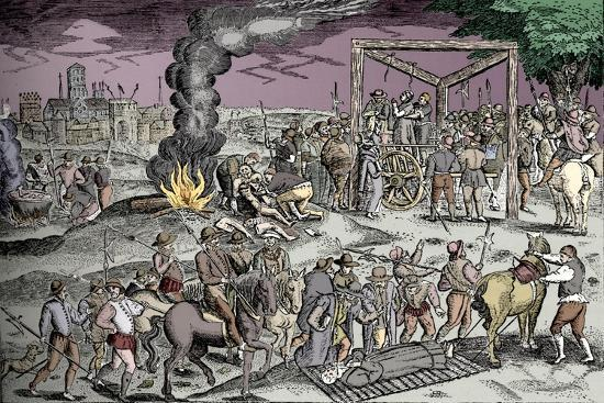 Martyrs at Smithfield, London, c1600 (1904)-Unknown-Giclee Print