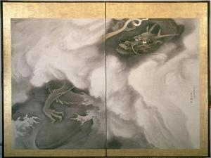 Dragon Screen, Japanese, 1781 (Ink and Colour on Paper) by Maruyama Okyo