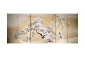 Pines in Snow, Decoration from Six-Panel Screen by Maruyama Okyo
