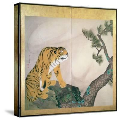 Tiger Screen, Japanese, 1781 (Ink, Colour and Gold on Paper)