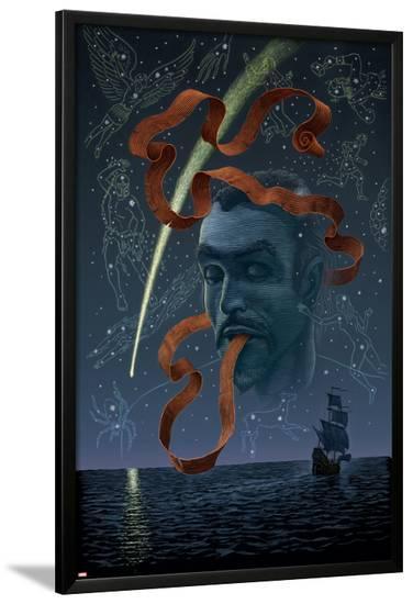 Marvel 1602 No.7 Cover: Dr. Strange Charging-Scott McKowen-Lamina Framed Poster