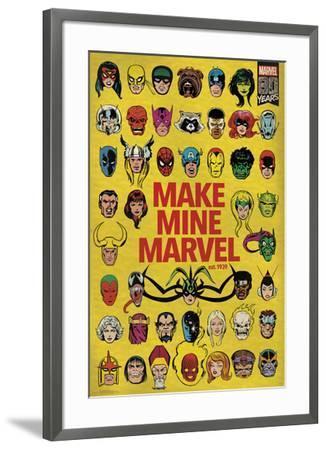 Marvel 80th - Group--Framed Poster