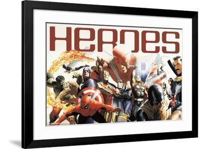 Marvel 80Th - Group--Framed Poster