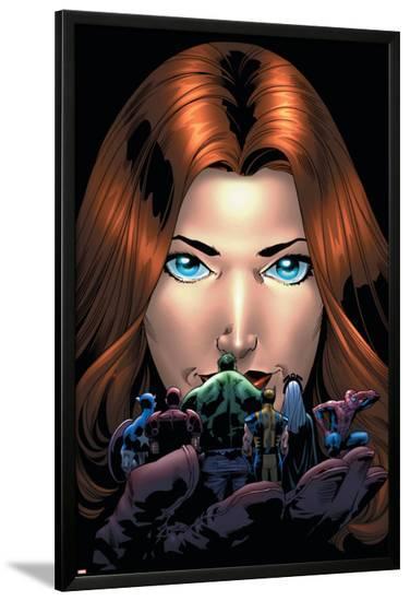 Marvel Adventures Avengers No.20 Cover: Giant-Girl-Kirk Leonard-Lamina Framed Poster
