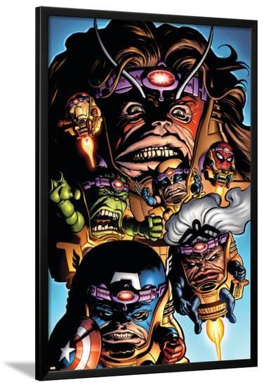Marvel Adventures Avengers No.9 Cover: M.O.D.OK.-Stewart Cameron-Lamina Framed Poster