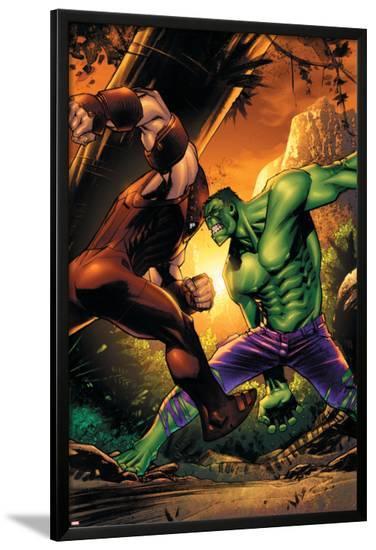 Marvel Adventures Hulk No.10 Cover: Hulk and Juggernaut-Sean Murphy-Lamina Framed Poster