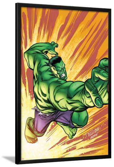 Marvel Adventures Hulk No.3 Cover: Hulk-David Williams-Lamina Framed Poster