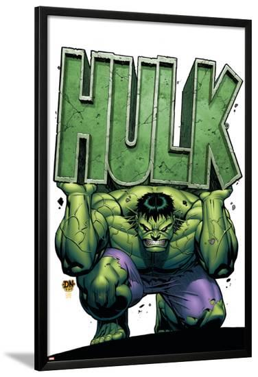 Marvel Adventures Hulk No.4 Cover: Hulk-David Nakayama-Lamina Framed Poster