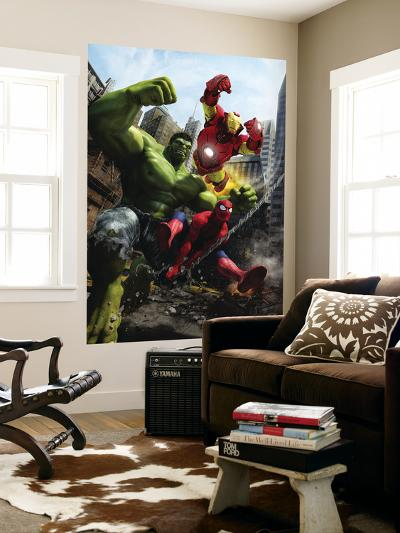 Marvel Adventures Iron Man Special Edition No.1 Cover: Iron Man, Hulk and Spider-Man-Francisco Ruiz Velasco-Wall Mural