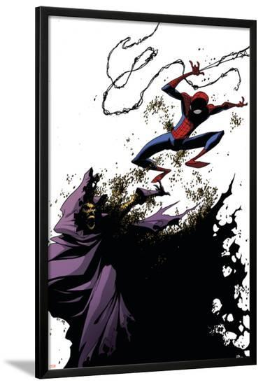 Marvel Adventures Spider-Man No.38 Cover: Spider-Man and Swarm-Skottie Young-Lamina Framed Poster