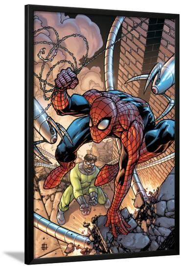 Marvel Adventures Spider-Man No.45 Cover: Spider-Man and Doctor Octopus-Zach Howard-Lamina Framed Poster