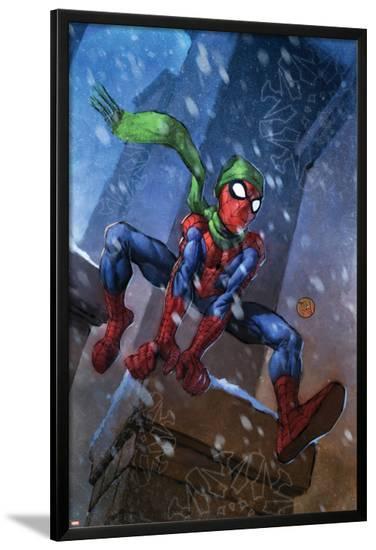 Marvel Adventures Spider-Man No.46 Cover: Spider-Man-Francis Tsai-Lamina Framed Poster