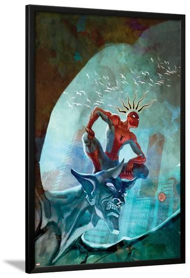 Marvel Adventures Spider-Man No.48 Cover: Spider-Man-Francis Tsai-Lamina Framed Poster