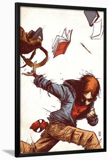 Marvel Adventures Spider-Man No.53 Cover: Peter Parker-Skottie Young-Lamina Framed Poster