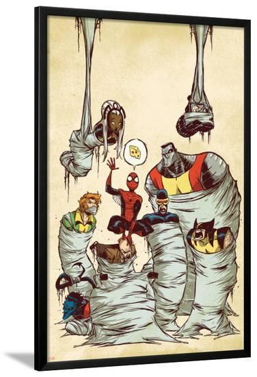 Marvel Adventures Spider-Man No.59 Cover: Spider-Man-Skottie Young-Lamina Framed Poster