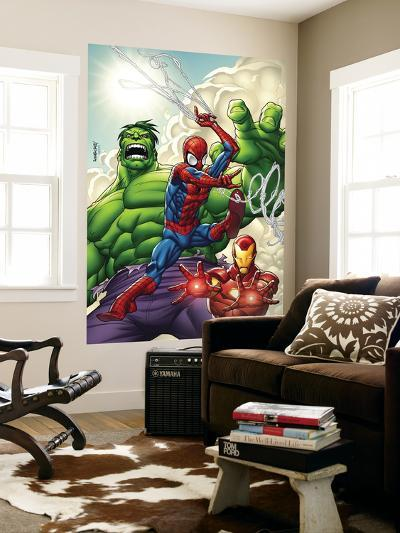 Marvel Adventures Super Heroes No.1 Cover: Spider-Man, Iron Man and Hulk-Roger Cruz-Wall Mural