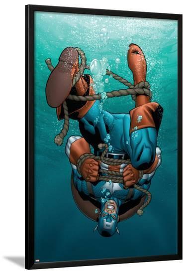 Marvel Adventures Super Heroes No.12 Cover: Captain America-Clayton Henry-Lamina Framed Poster