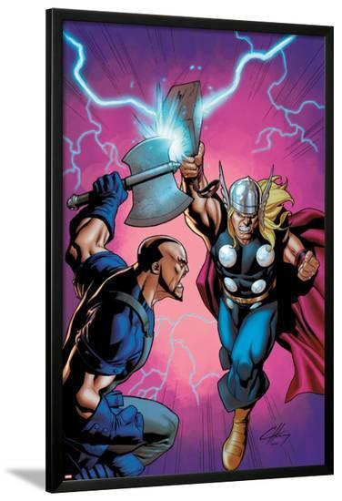 Marvel Adventures Super Heroes No.6 Cover: Thor Fighting-Clayton Henry-Lamina Framed Poster